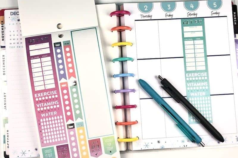 Use planner stickers to change the format of your happy planner pages.
