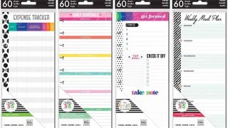Happy Planner Classic Planner Half Sheets - Meal Planning, Budget, Focus and Daily Schedule