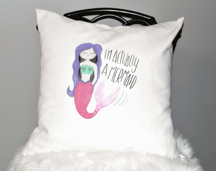 Make A Fun Cricut DIY Mermaid Pillow & Cricut Easy Press Giveaway!
