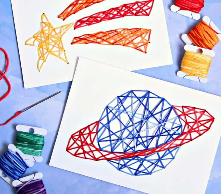 Stitched String Art for Kids (and Adults Too)