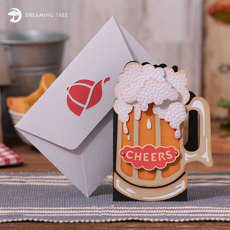 cheers paper beer mug card Cricut