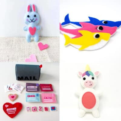 More Than 21 Felt Crafts You Can Make with Your Cricut