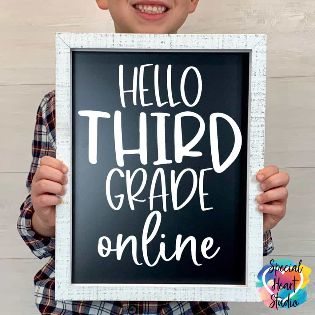 hello third grade online svg vinyl sign