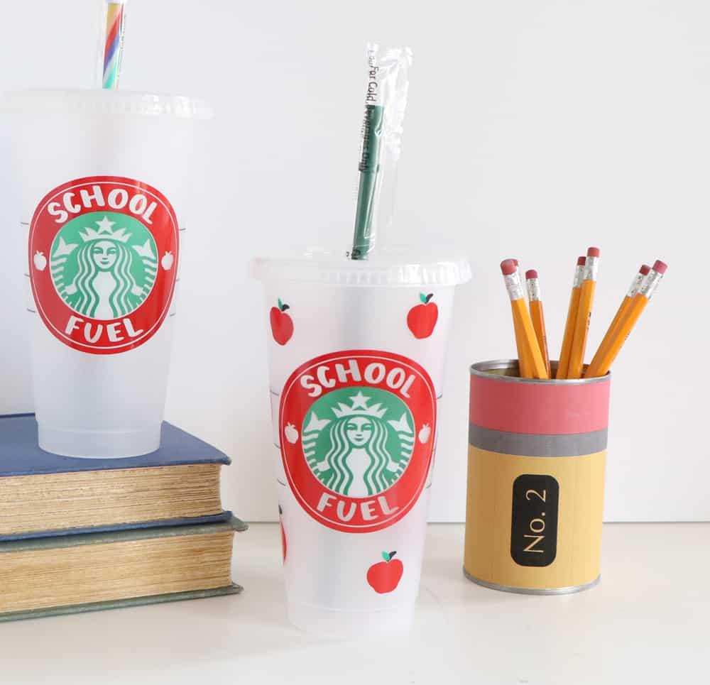 school fuel coffee drink sticker