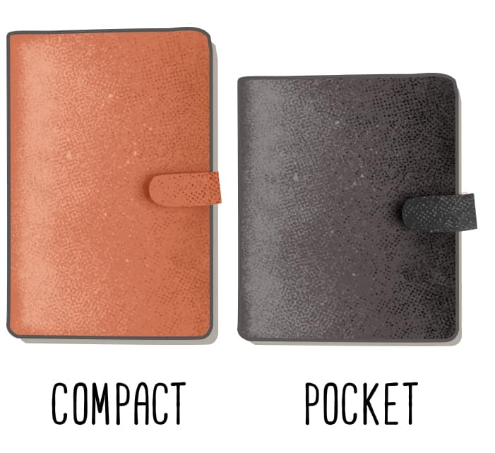 compact and pocket sized planner illustrations