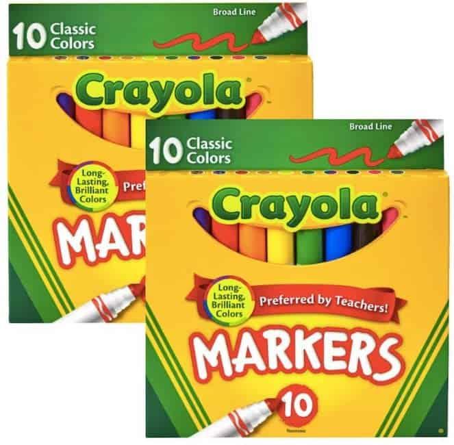 crayola broad tip markers