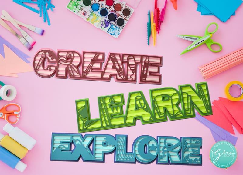 create learn explore paper craft back to school decor