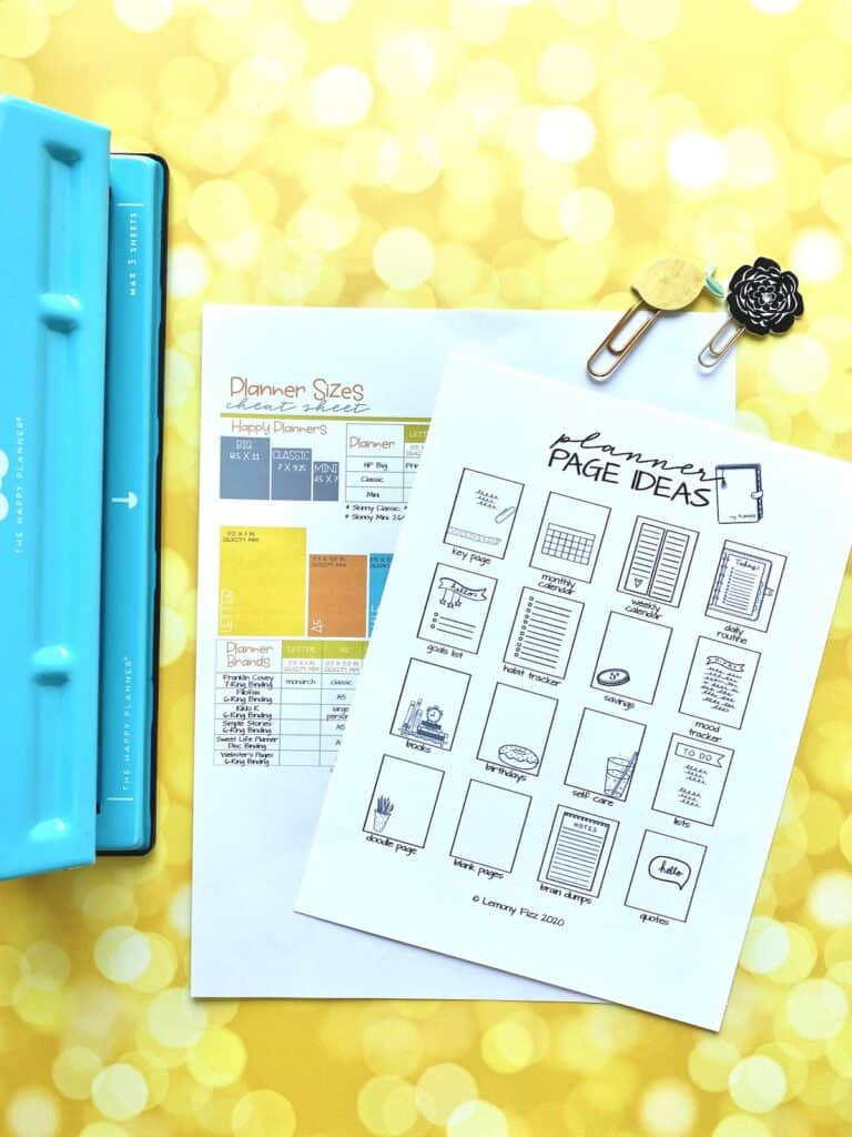 planner page suggestions and planner punch