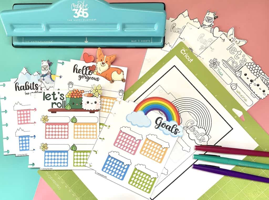 free habit trackers for your planner