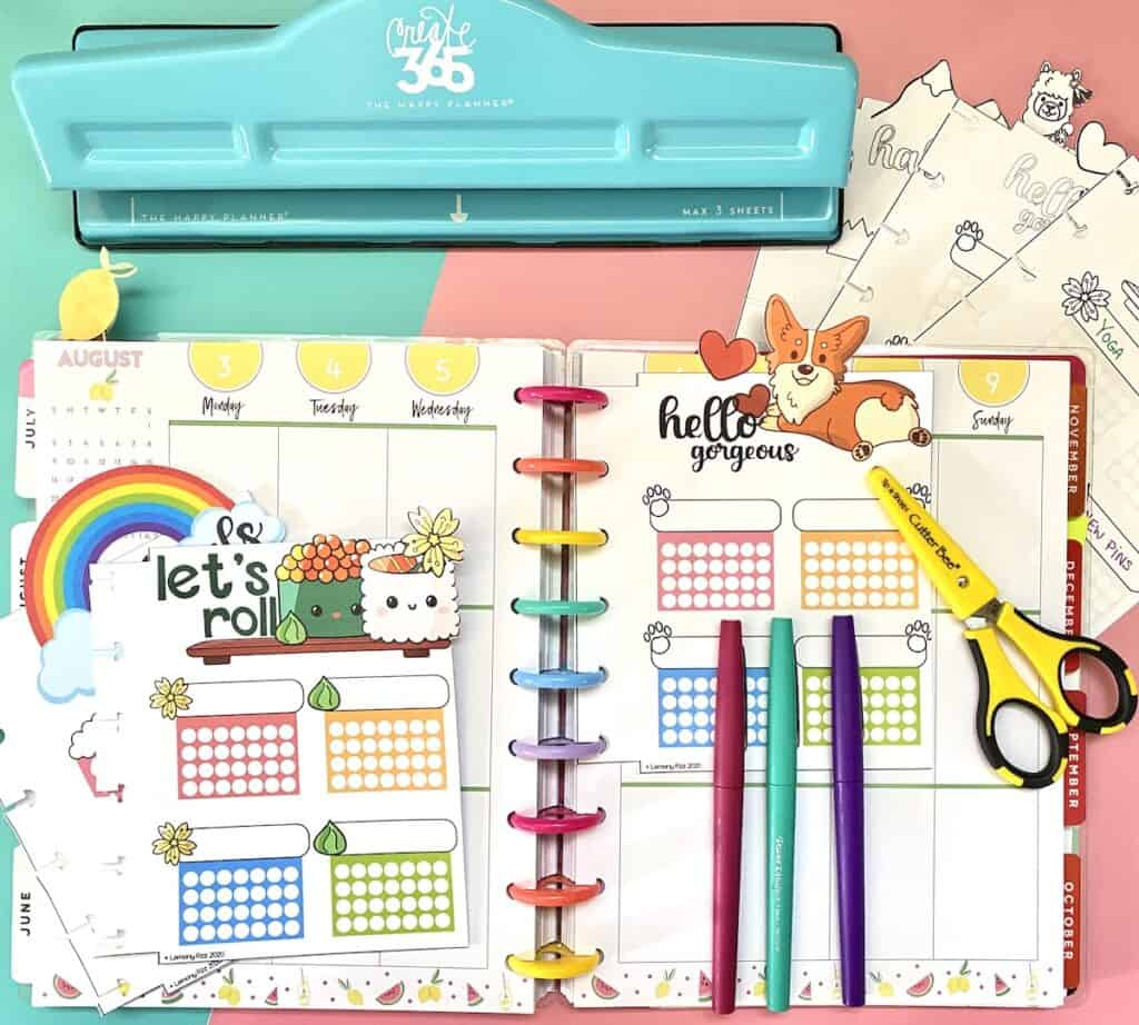 free planner inserts that you can use in your planner habit tracker printable sign up