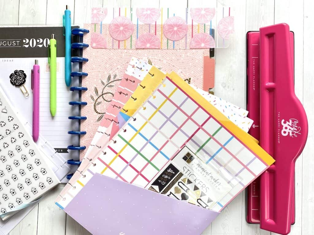 Note paper for a Big Happy Planner