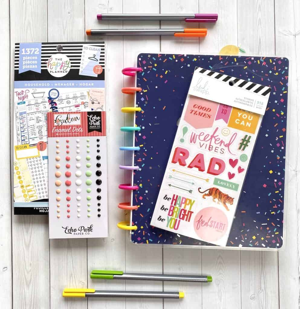 Planner supplies for Happy Planners and DIY planners.