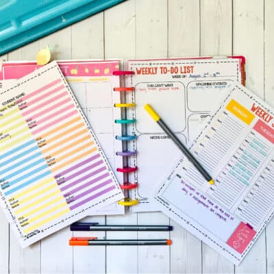 undated printable homeschool planner
