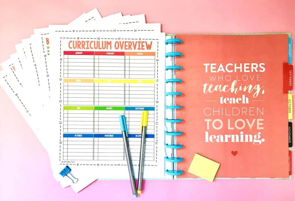 printable planner for homeschool