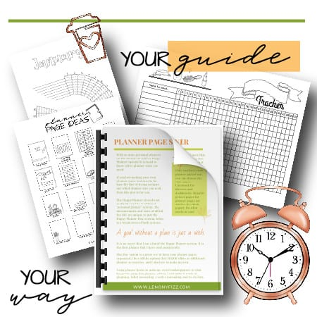 planner guide kit with alarm clock