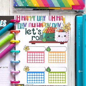 Printable habit trackers for DIY planners