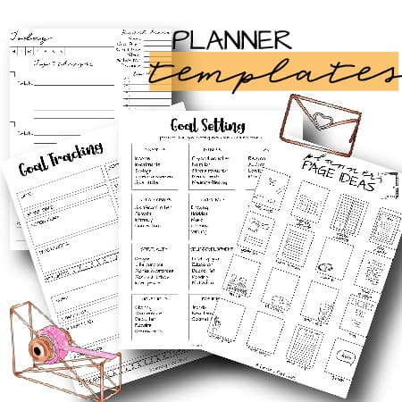 planner templates preview