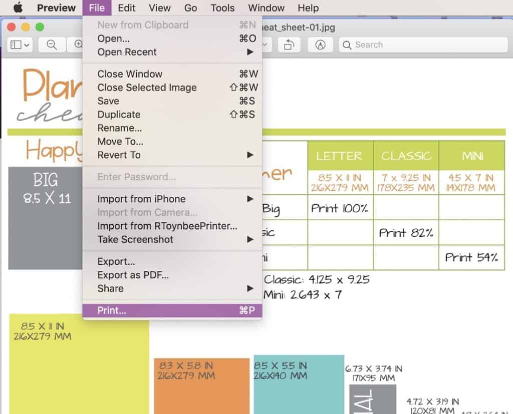 print planner pages for your diy planner