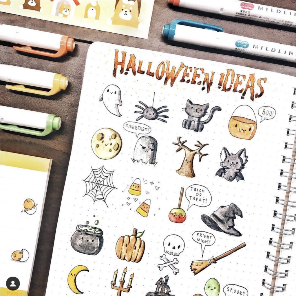 Halloween Doodle Ideas