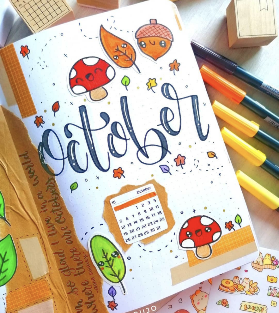 October nature calendar at a glance