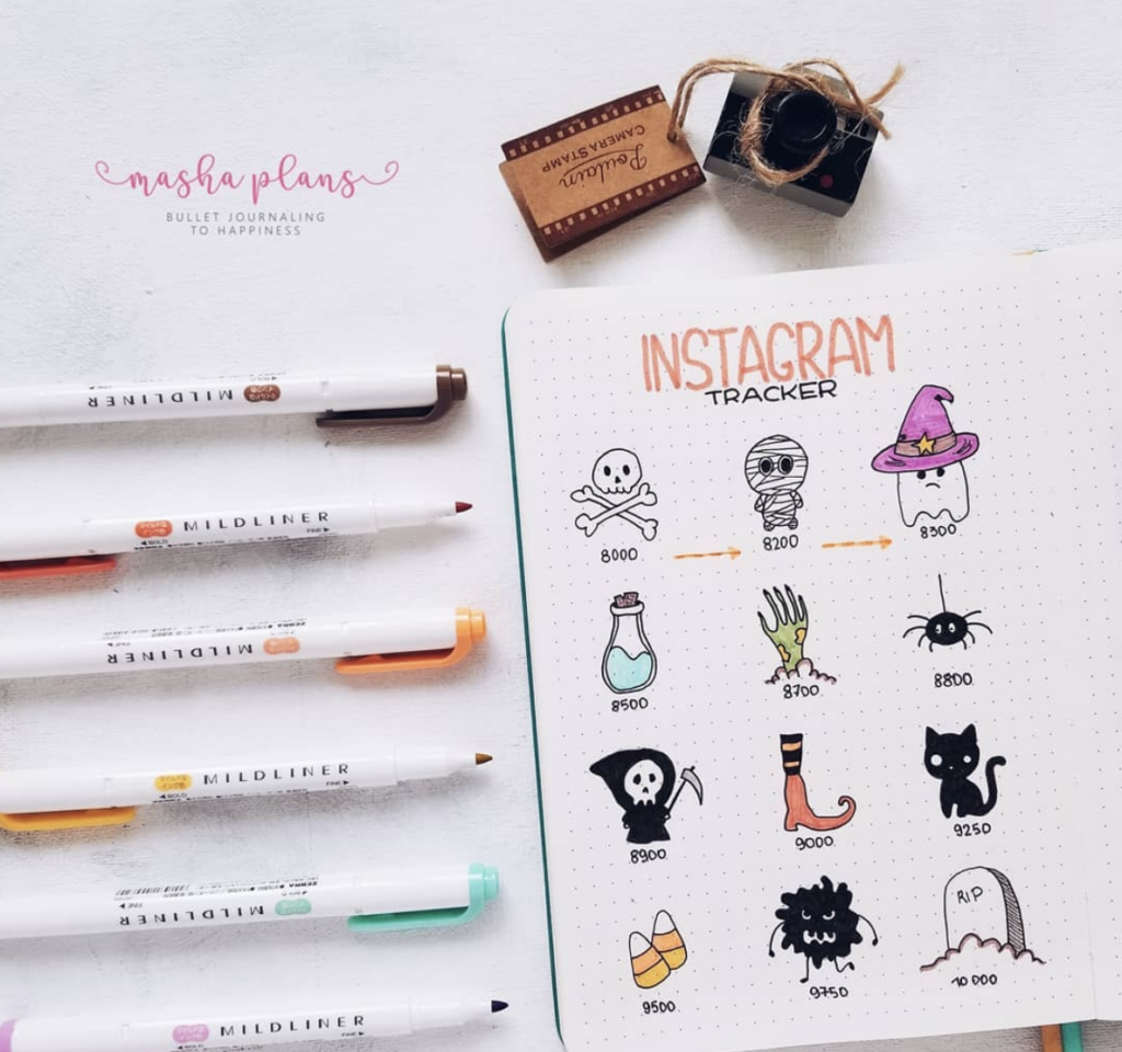 halloween characters for bullet journals