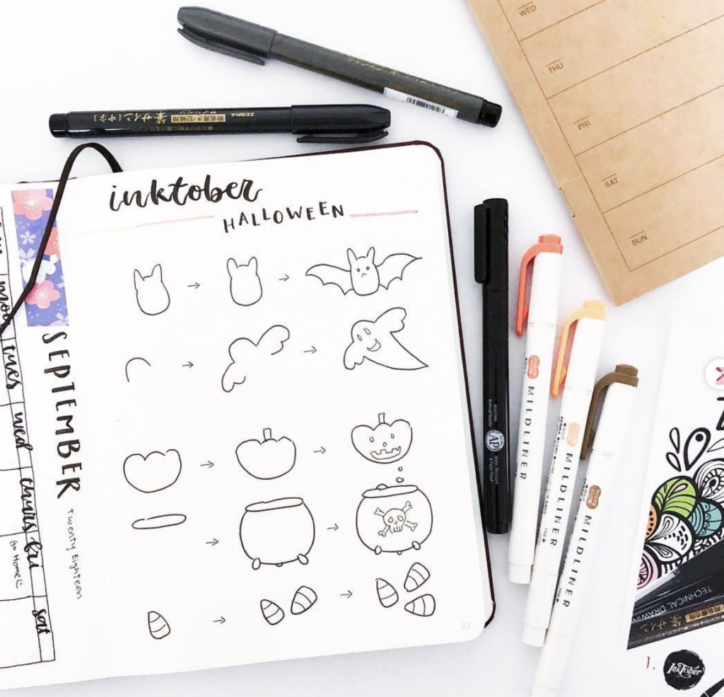 How to doodles Halloween images