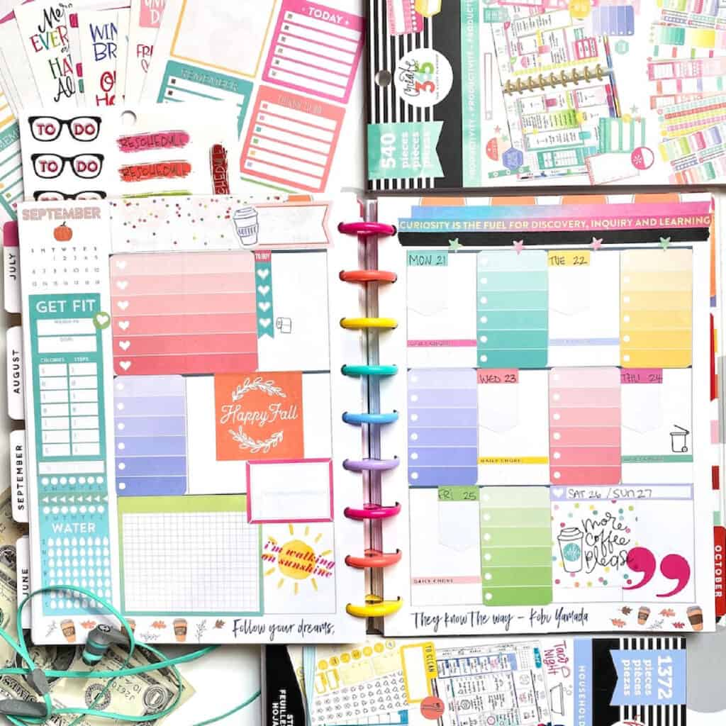 diy your Happy planner layout pages