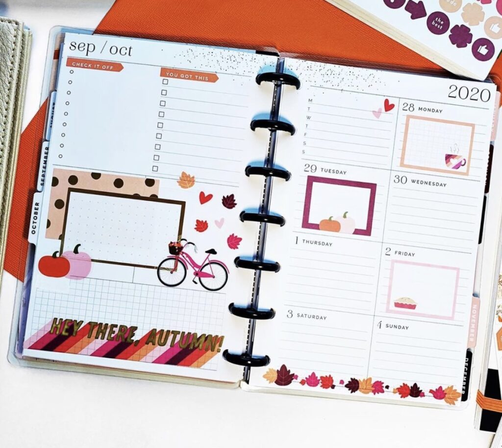 marathon planner with space to write