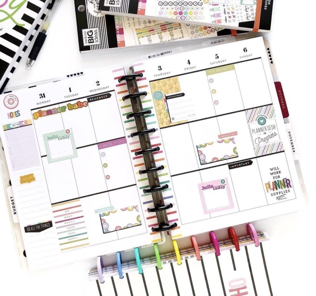 Thats What She Planned Happy Planner Layout