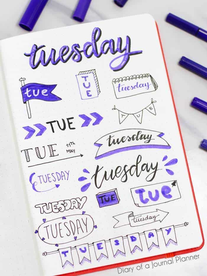 a2-tuesday-bujo-banner-ideas-diaryofabulletjournal