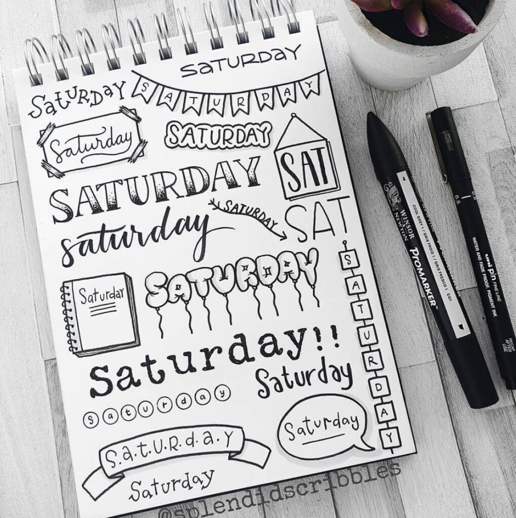 a6-Saturday-splendid-scribbles