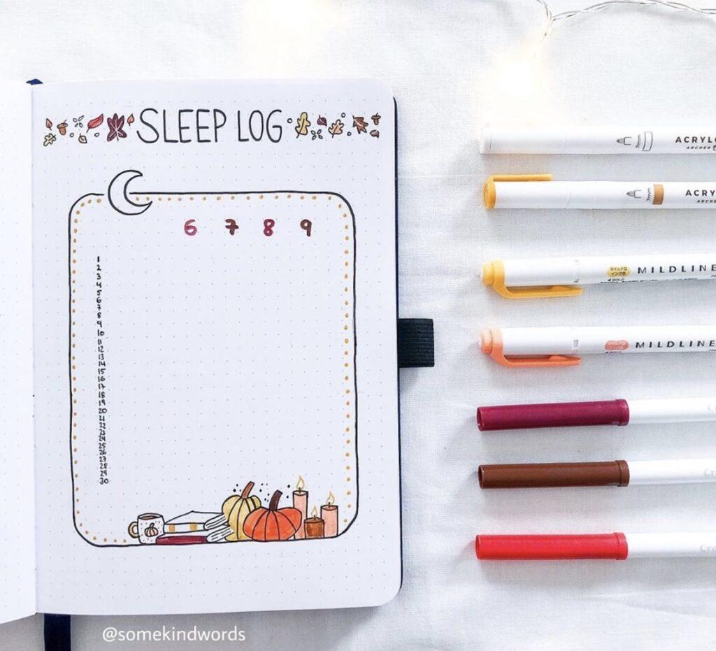 autumn-sleep-log-somekindwords