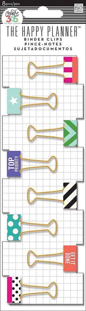 happy planner binder clips