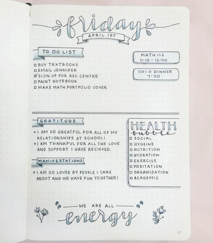 daily page spread example