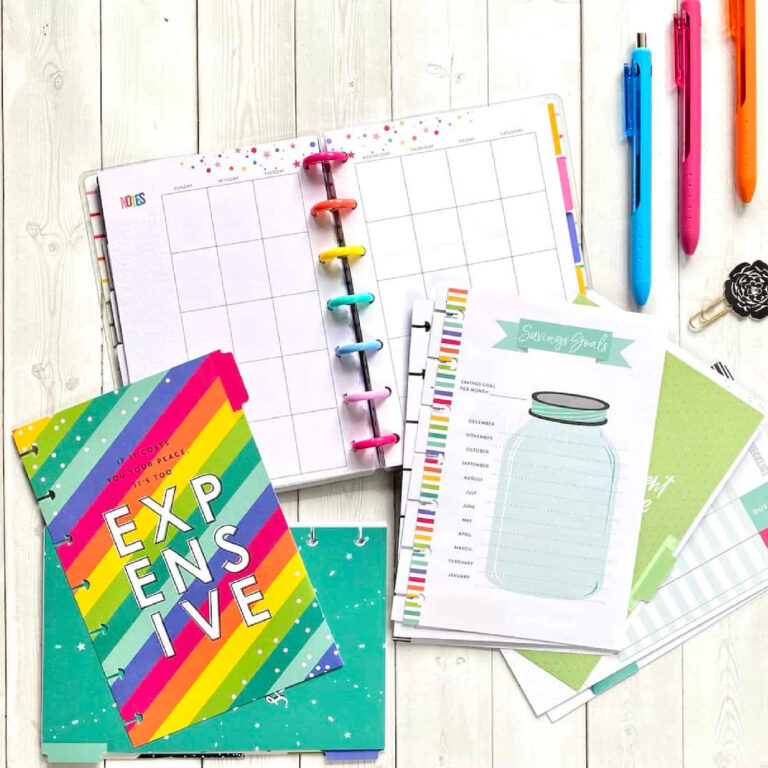 how to keep track of your budget with a Happy Planner