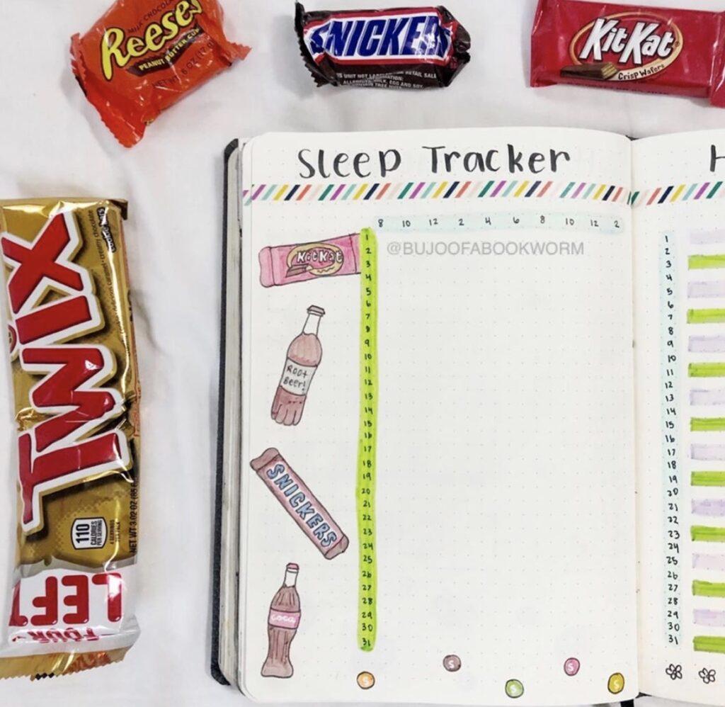 candy-sleep-journal-bujoofabookworm