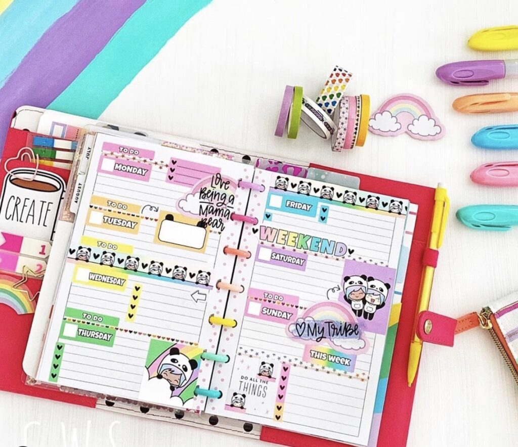 creating with sara planner layout