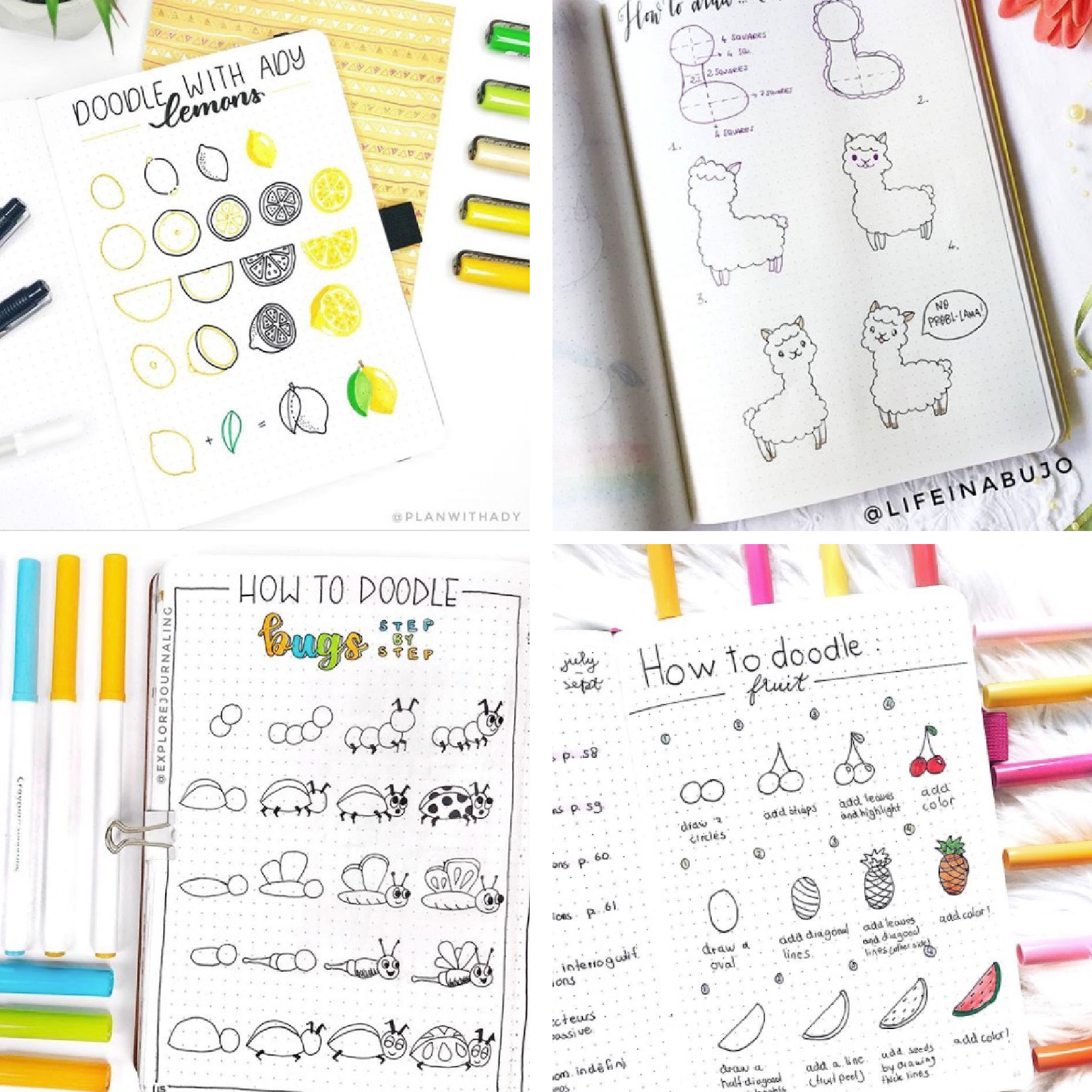 cute easy doodles for your bullet journal