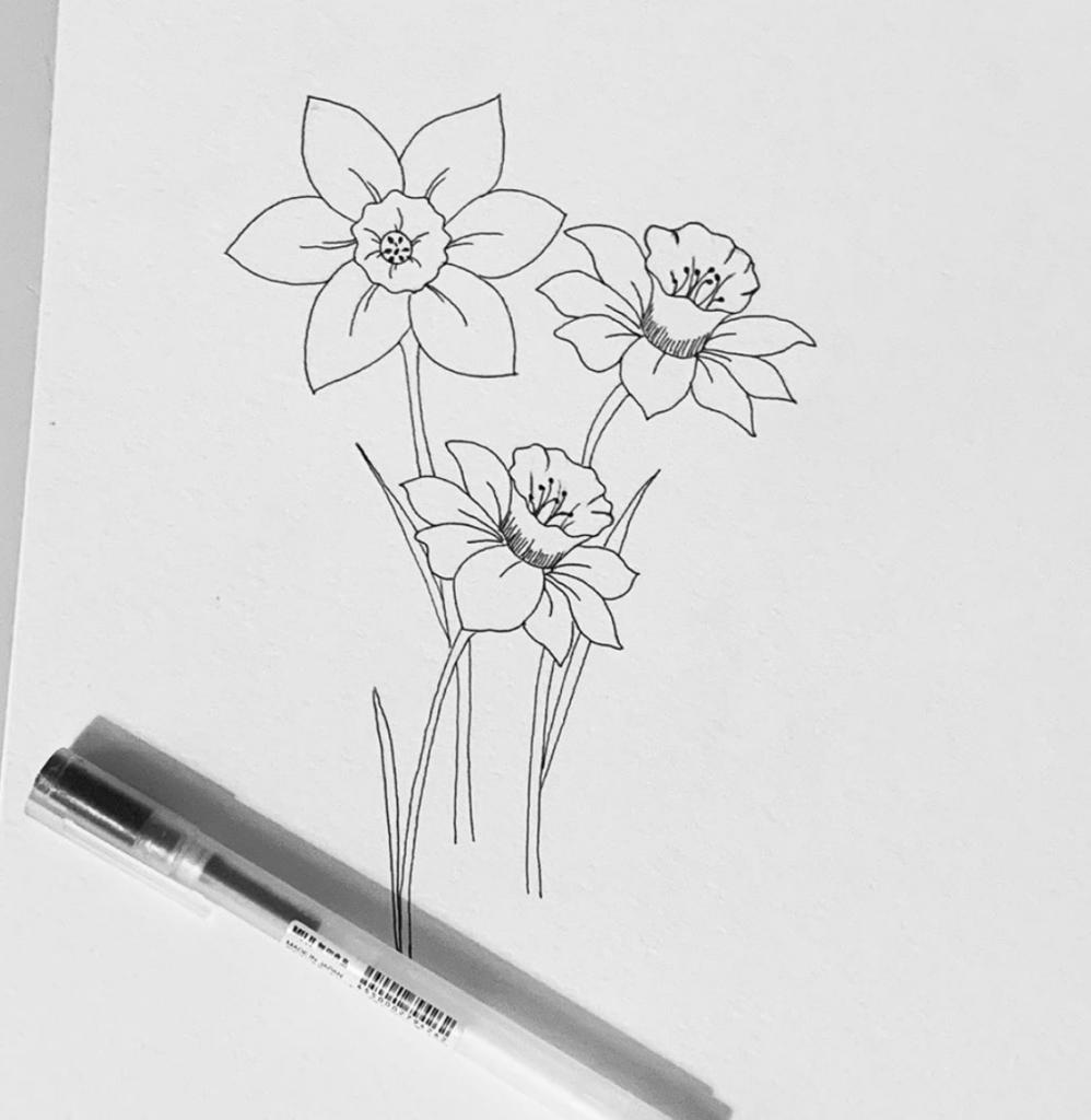 daffodil-daintydoodlesbylaura