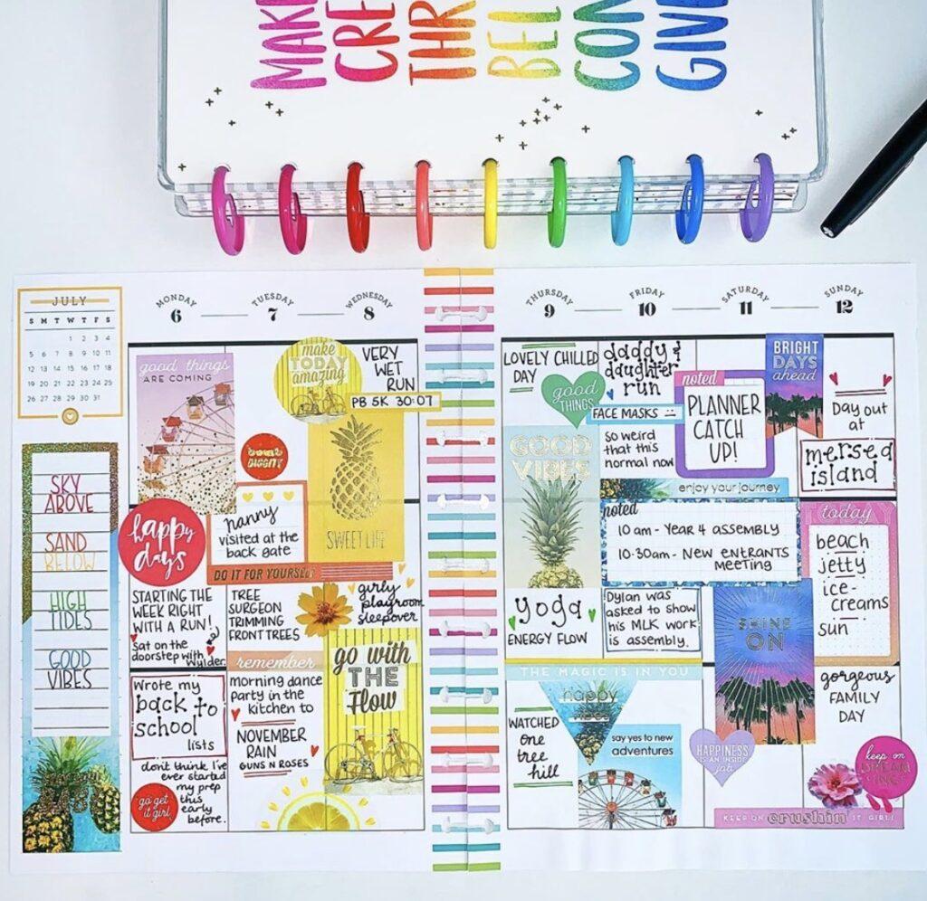 dear beautiful plans sticker layout