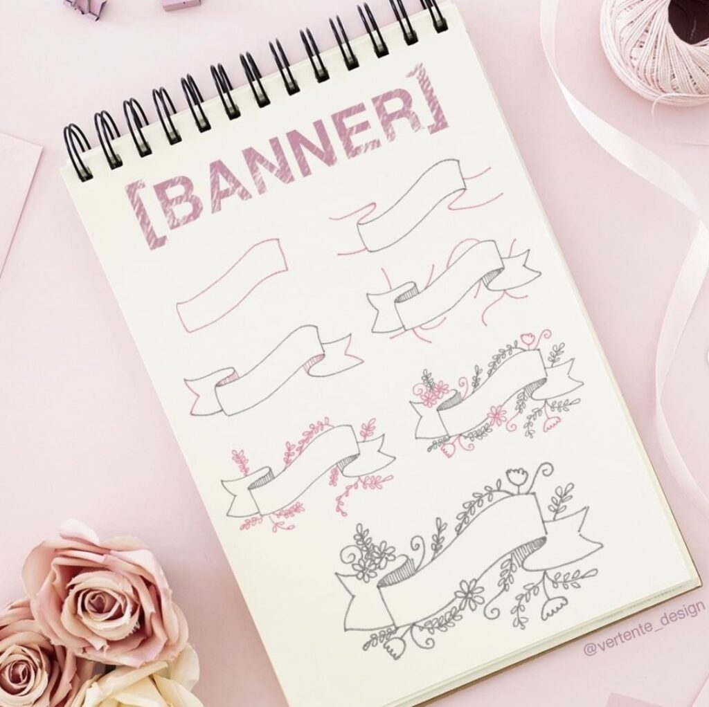 draw-a-floral-banner-vertente-design