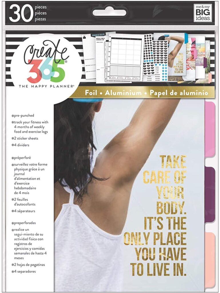 fitness extension pack for happy planner