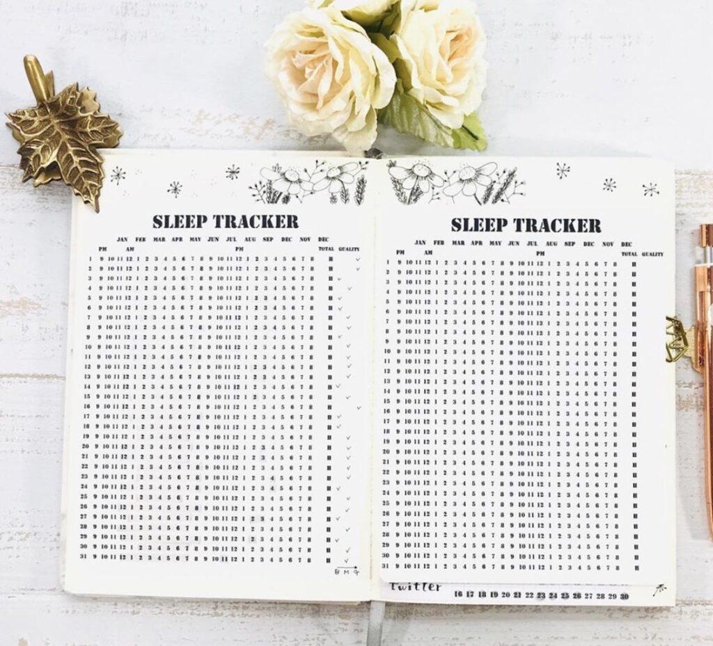 floral-sleep-tracker-studiomisstickers