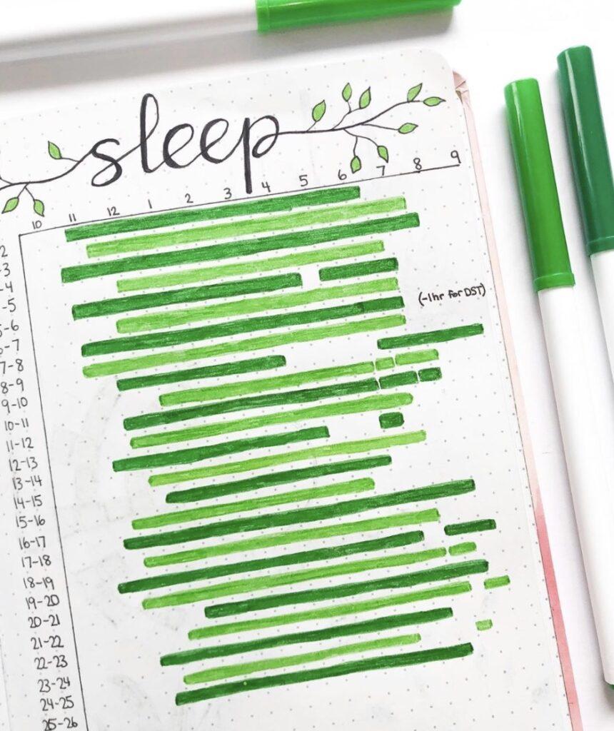green-marker-sleep-tracker-bujowithandrea