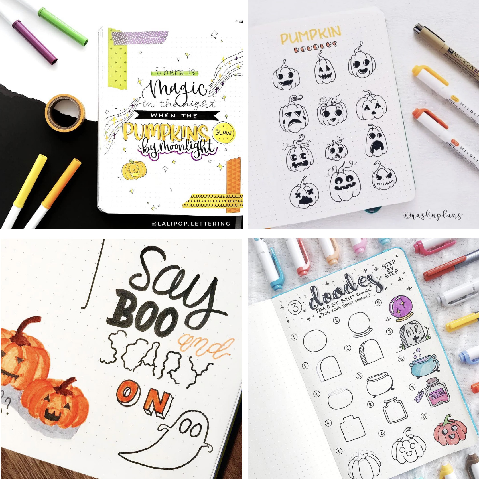 halloween bullet journal doodle ideas