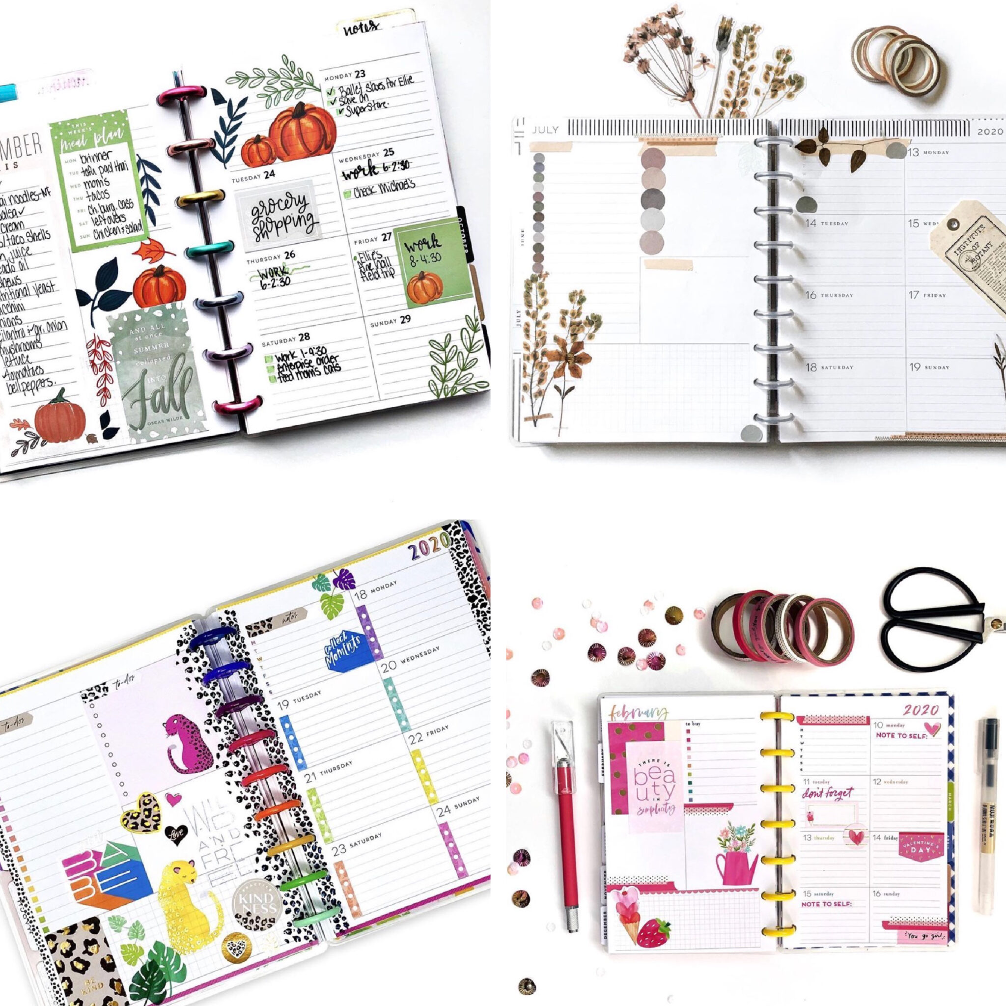 Happy Planner Dashboard Layouts