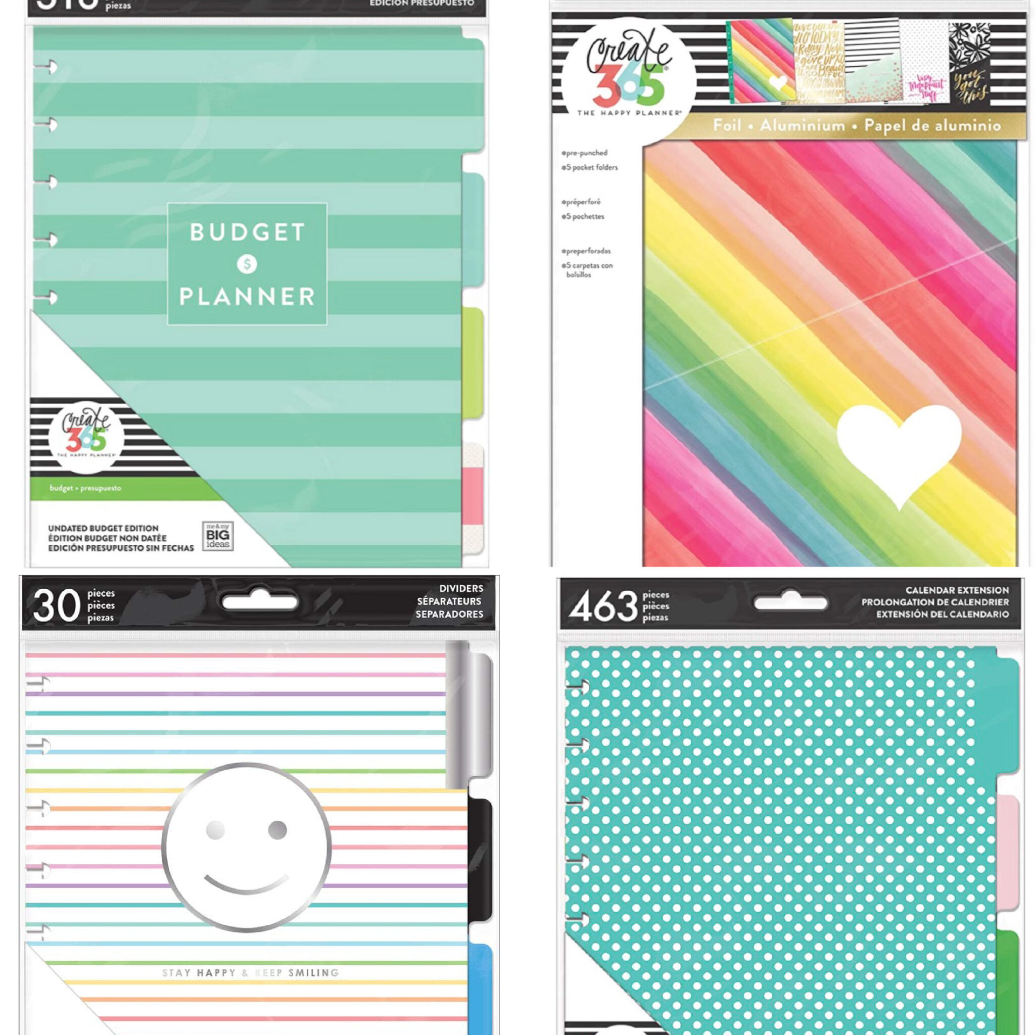 happy planner inserts