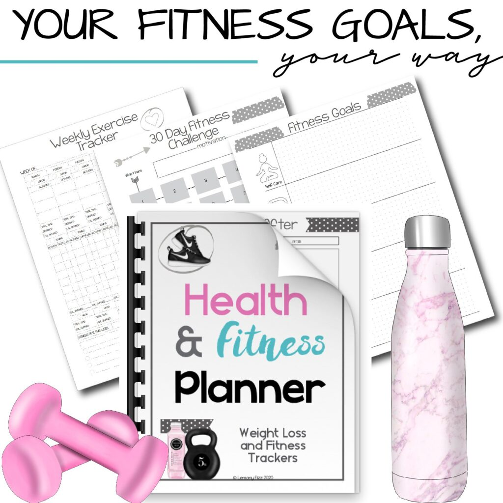 printable health and fitness tracker planner