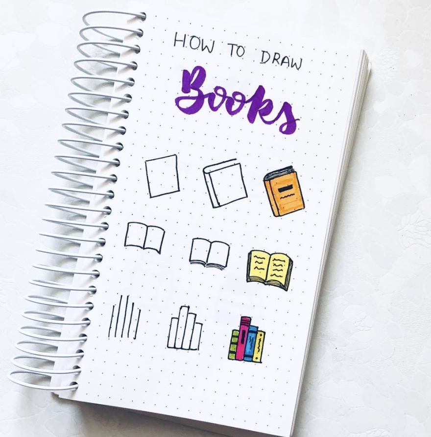 how-to-draw-books-junefolio