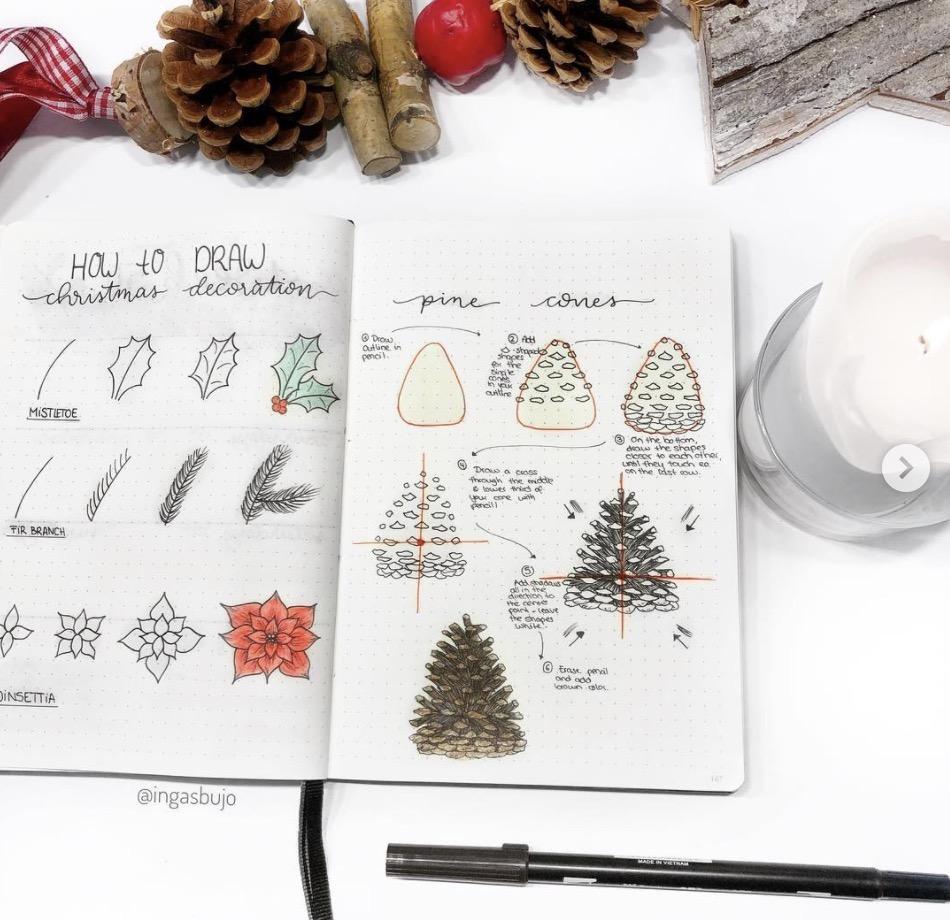 Ingas Christmas Bujo Doodles